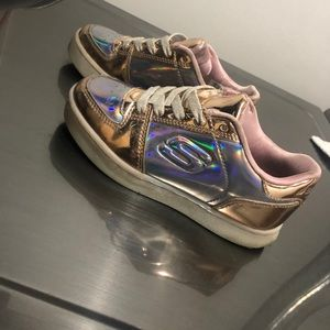 Rose gold sketchers energy light shoes